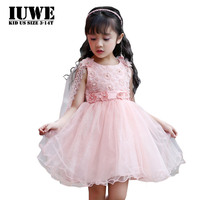 O Neck Cotton Summer Dress Of Anger 2017 Cute Pearls Voile Dresses For Girls Pink Floral