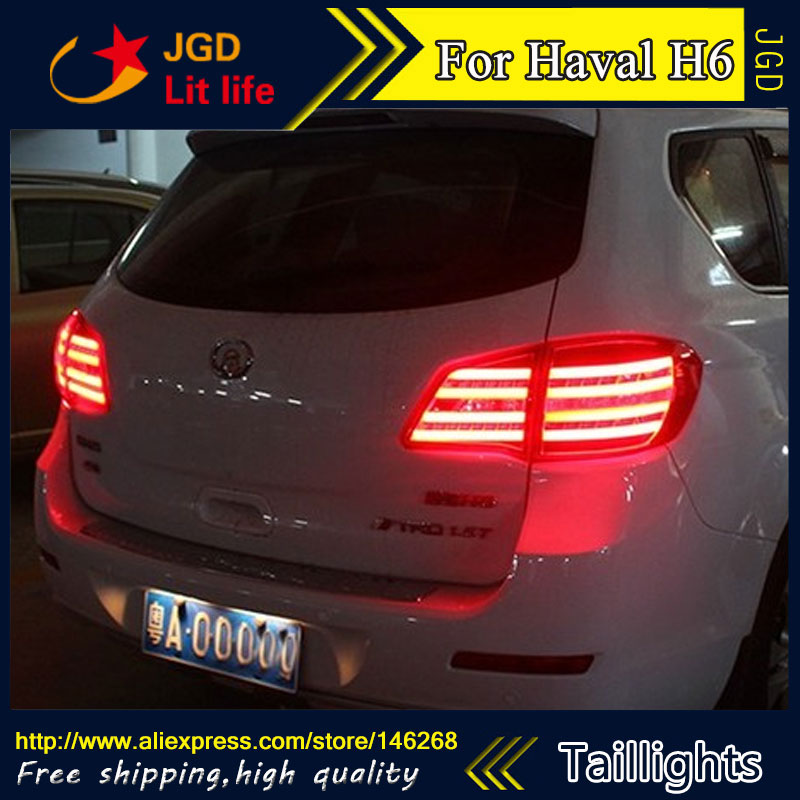 Car Styling tail lights for Haval H6 LED Tail Lamp rear trunk lamp cover drl+signal+brake+reverse car rear trunk security shield cargo cover for volkswagen vw tiguan 2016 2017 2018 high qualit black beige auto accessories