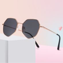 Metal Polygonal Kids Sunglasses UV400 Vintage Cute Girls Boys