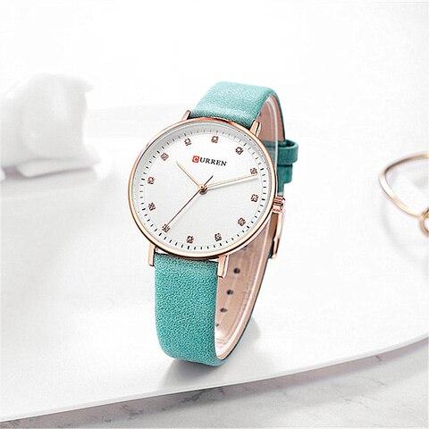 Simple Fashion Diamond Quartz Watches Womens Elegant Ladies Wrist Watch Female Clock CURREN Leather Watch For Women Reloj Mujer Multan