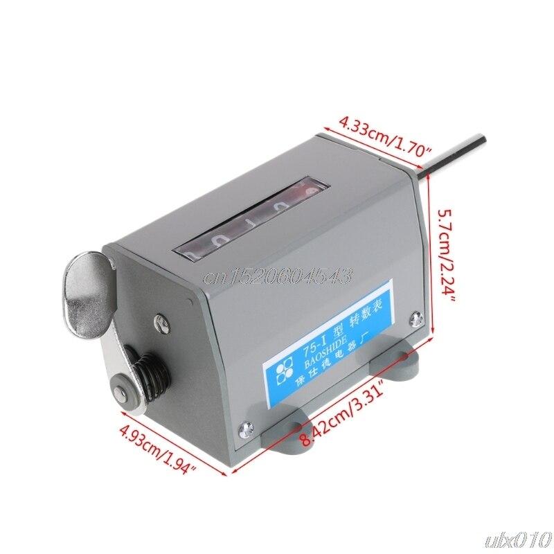 цена на 75-I Mechanical Resettable 5 Digits Display Rotary Revolution Counter 350 R/Min S08 Drop ship