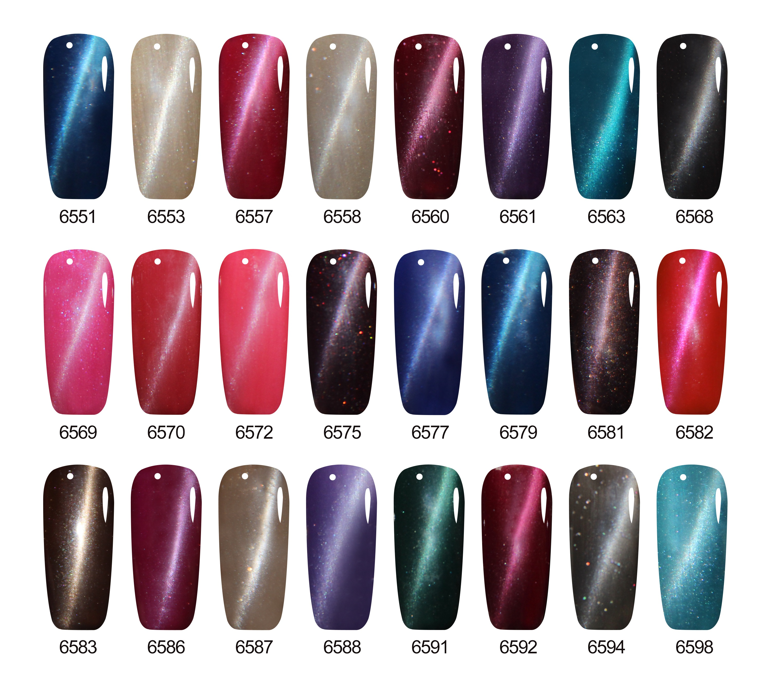Verntion French Manicure 3D Cat Eye Uv Gel Nail Polish Glitter Uv ...