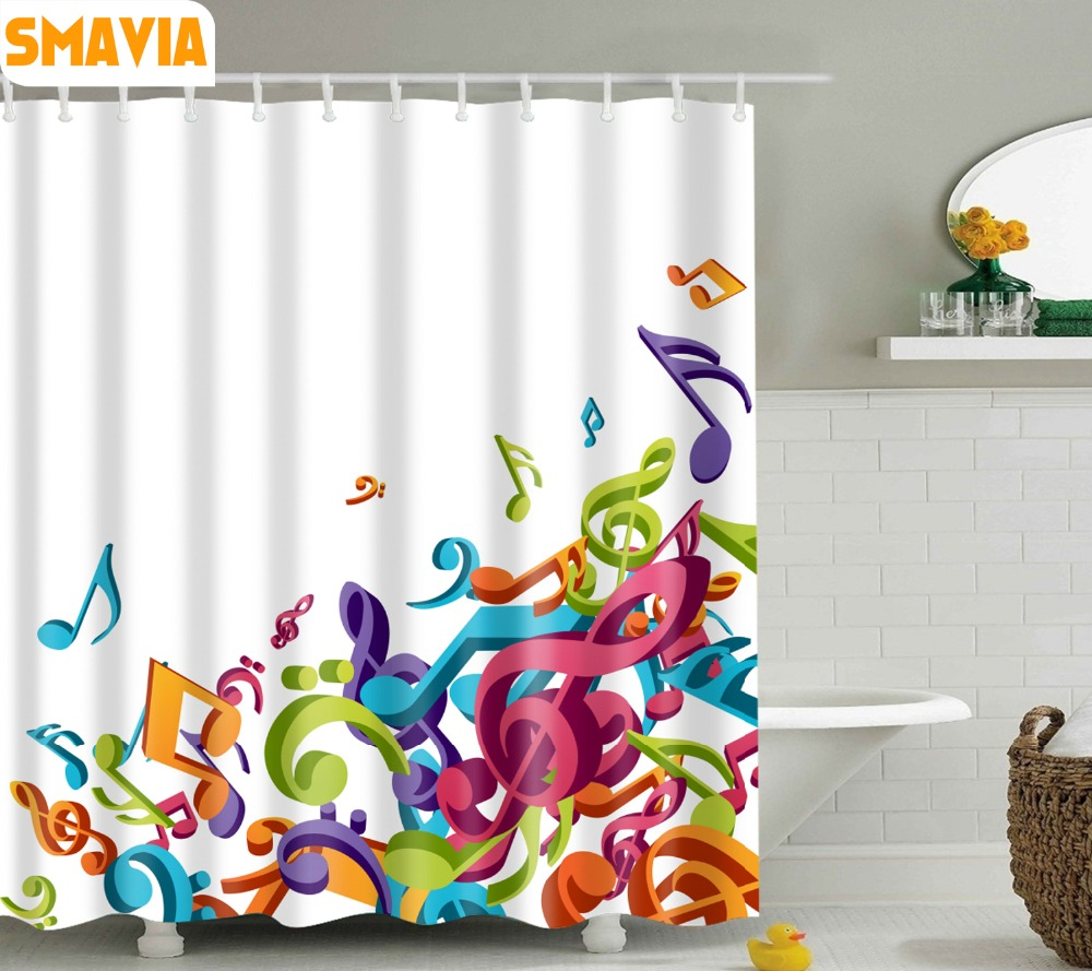 shower curtain shower environmentally friendly. SMAVIA Custom Music Notes Design Shower Curtains Eco Friendly Polyester Bath Curtain With 12pcs Hooks Washable\u0026Installation 1pc-in From Home Environmentally S