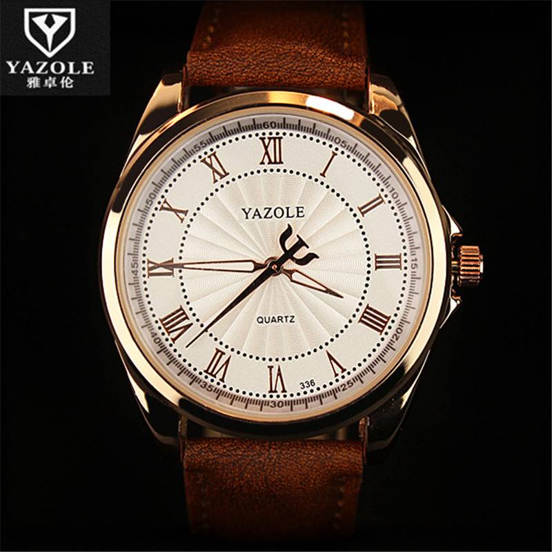 Newly Design Luminous YAZOLE Luxury Business Wristwatches Fashion Leather Men's Quartz Analog Watch Waterproof Watches C89 economic newly design 2 4mx1 2mx3cm cheap gymnastic mats