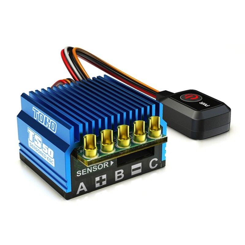 SkyRC TORO TS50 1 10 50A ESC Sensored Sensorless Brushless ESC with 6V 2A BEC for