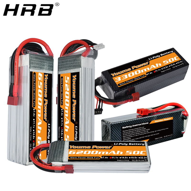 Youme <font><b>5200mah</b></font> <font><b>Lipo</b></font> Battery 3300mah 6200mah 6500mah 3S 11.1V <font><b>2S</b></font> 7.4V 4S 14.8V 5S 18.5V 6S 22.2V T Deans 50C RC Airplane Car Parts image