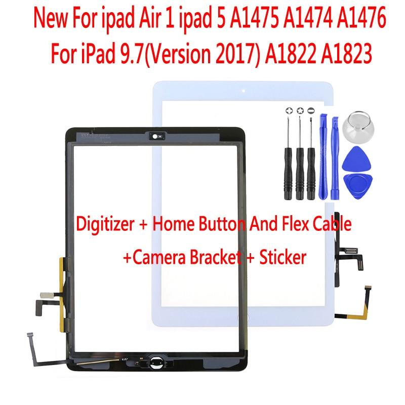 Новый сенсорный экран дигитайзер для iPad Air A1474 A1475 A1476 для iPad 9,7 (версия 2017)5th Gen A1822 A1823 Передняя стеклянная панель