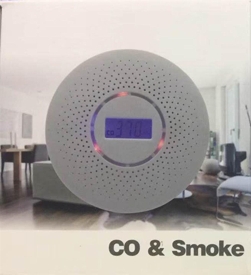 CO и дыма двойного назначения ЖК-дисплей Дисплей ...
