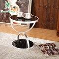 La sala de estar un par de ángulo de alta gama moderna minimalista comerciantes al por mayor directo de fábrica de vidrio templado mesa de té
