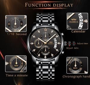 Image 5 - Mens Watches Top Brand Luxury OLMECA Clock Relogio Masculino 3ATM Waterproof Watches Chronograph Wristwatch Reloj Hombre for Men