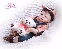 NPK57CM full silicone body doll Boneca Reborn preppy style Reborn Baby Doll Toys Lifelike Child Birthday Xmas Gift HOT TOY