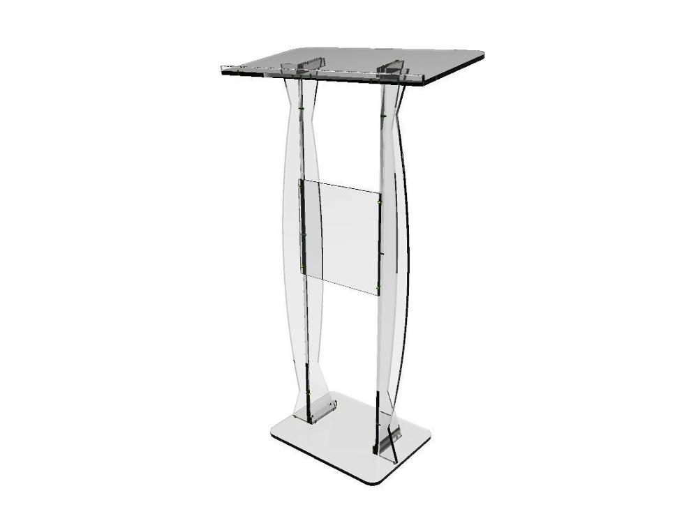 Fixture Displays Fixture Displays Podium Clear Ghost Acrylic Lectern Or Pulpit  Easy Assembly Required