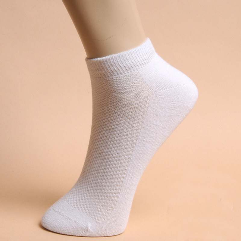 5 Pairs Fashion Men Cotton Socks Solid Color Summer Ankle Socks Breathing Sock Hot Item Hot