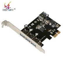 DIEWU USB 3.0 (3+1) 3 External + 1 Internal Ports pci-e PCI Experss  pci e Controller riser Card adapter PCIE adaptator
