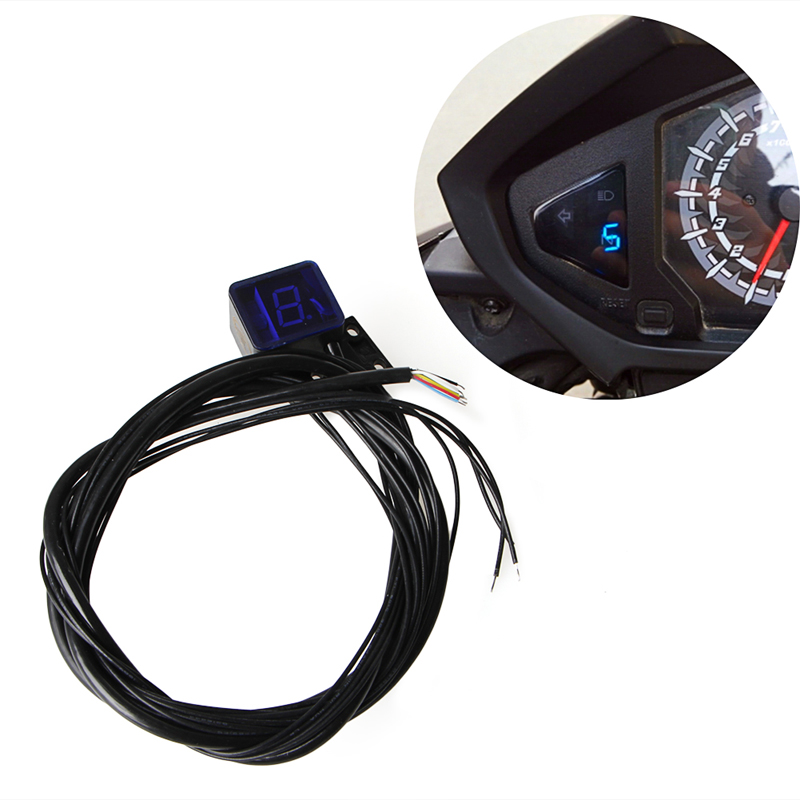 marie's store 1PC Motorcycle Parts Universal LED Digital Gear Indicator Motorcycle Display Shift Lever Sensor Motors Accessories
