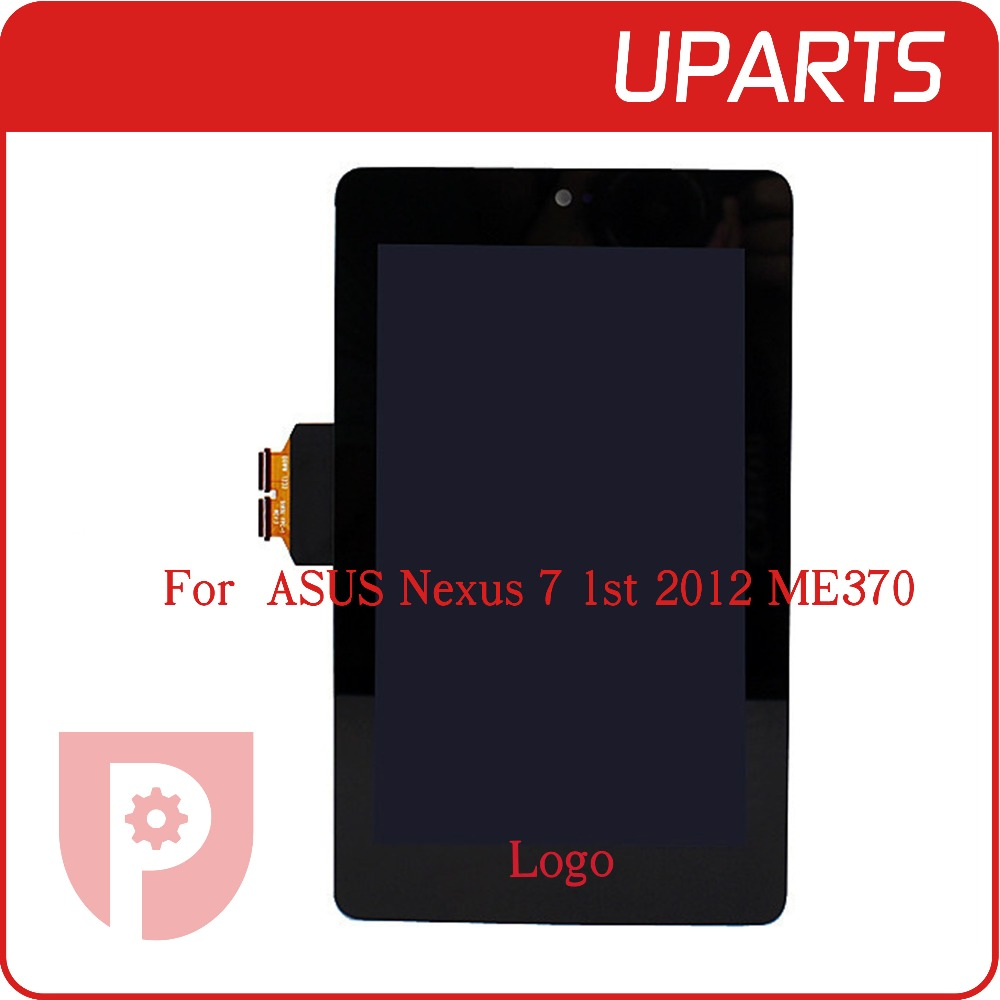 ФОТО 10pcs/lot High Quality For ASUS Nexus 7 1st 2012 ME370 Full LCD Display Touch Screen Digitizer Assembly Complete+Tracking Code