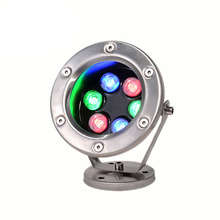 LED Underwater Lights 18W RGB Color Changing with RF Remote Controller & IP68 Waterproof Joint for Party Swimming Pool Fountain rgb color changing ip68 waterproof 27w 1800lm led boat drain plug underwater marine lights