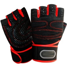 Silicone Gym Gloves men women fitness anti-skid breathable thicken durable half-fingered hand palm wrist protection