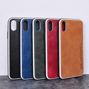 Image 5 - Echtes Leder für iphone 7 fall fashion Business telefon fall für iPhone 8plus X XS einfarbig Schock widerstand schutzhülle