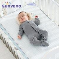 SUNVENO дышащие детские матрасы Новорожденные матрас Высокое качество удобный матрас классический Дизайн 120x60 см
