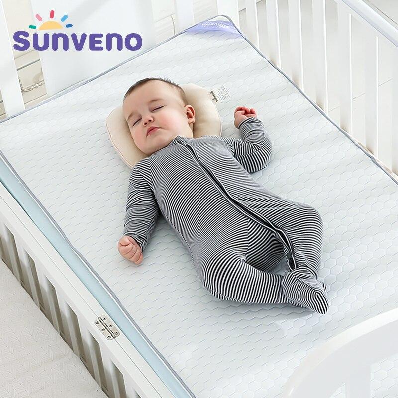 SUNVENO Breathable Baby Mattresses newborn baby Crib mattress High Quality Comfortable mattress Classic Design 120x60cm sunveno white 4t