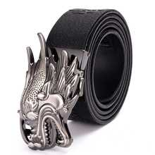 Mens Leather Ratchet Dress Belt with Automatic Buckle Hot !!! NEW Men length:110-125cm