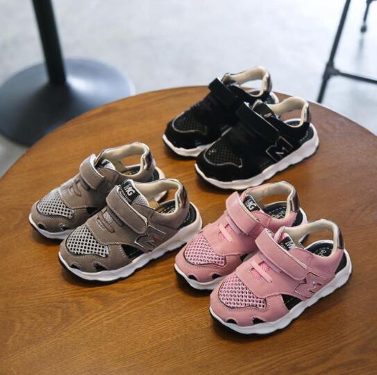2018 Brand Summer Beach Sandals Kids Sandals Boys Leather Summer Shoes Casual Sport Sandals For Little Boys