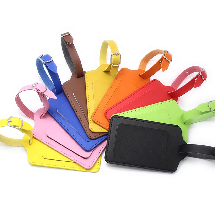 High-Quality PU Leather Suitcase Luggage Tag Label Bag Pendant Handbag Portable Travel Accessories Name ID Address Tags LT23