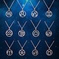 Special presentes de aniversário do zodíaco colares pingentes de moda de aço inoxidável pvd ouro rosa banhado a ouro jóias para as mulheres por atacado