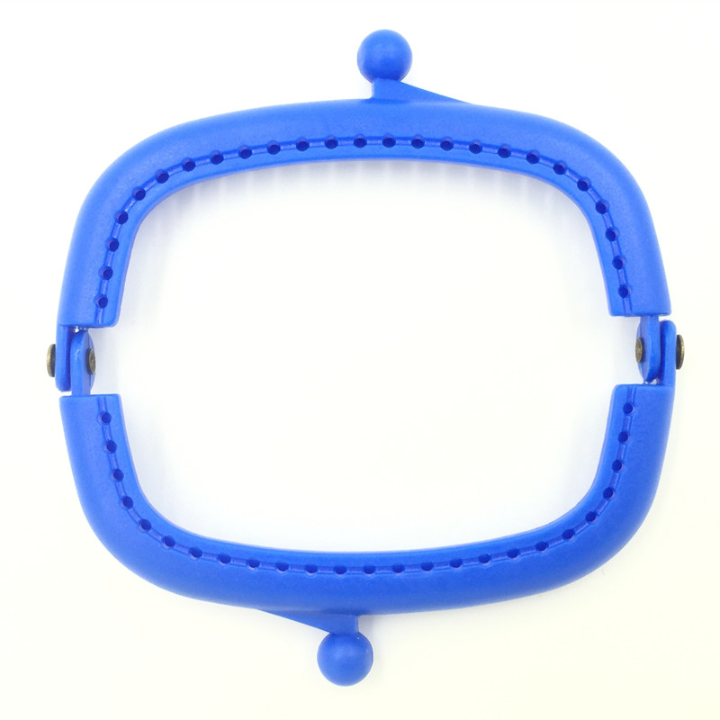 50Pcs High Quality Handbag Coins Purse Arc Frame Kiss Clasps Lock Plastic Handle Clutch Candy Color Blue 9x5cm in Bag Parts Accessories from Luggage Bags