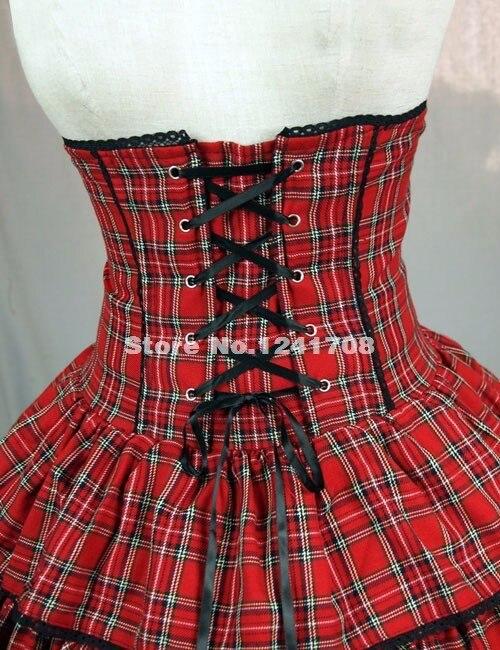 Индивидуальные Женские кружевное платье принцессы с юбкой из тюля; Милая юбка для девочек-подростков в стиле «панк» Красный Клетчатый хлопковый Лолита юбка для девочек модные юбки