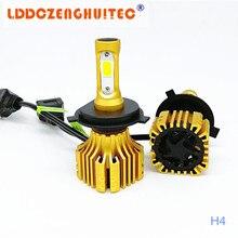 цена на LDDCZENGHUITEC S5 H4 H7 H11 H1 9005 9006 9007 COB LED Headlight 72W  All in one Car LED Headlights Bulb Fog Light 6500K 12V 24V