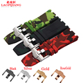 Luxury Band 28mm camouflage black Rubber Silicone Waterproof with stainless steel pin buckle Watch Strap For AP Watchband