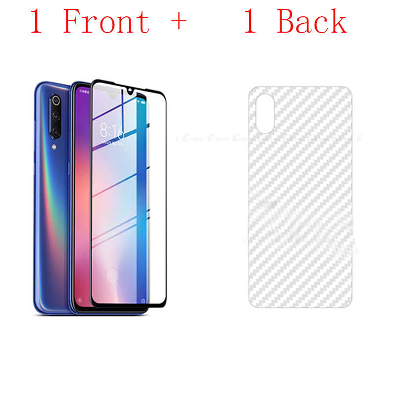 Front+Back film Full Cover For Xiaomi Mi9 SE Glass On For redmi6 6A Mi 9 Glass Screen Protector Protective Tempered Glass