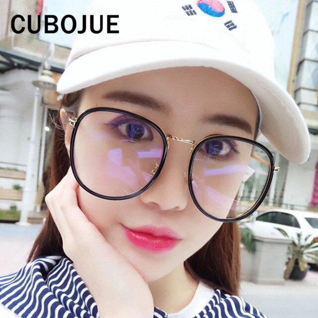Cubojue Oversized Glasses Frame Women Man Large Face Eyeglass with ...