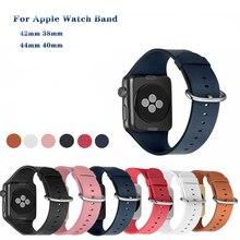 Leather Strap bracelet apple watch 40mm wristband for apple watch band 44mm for iwatch band 38mm Serie 4 3 2 1 42mm accessories цена и фото