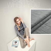 Skincare thin skin worsted elastic knitted pure silk wool sweater fabric imported fabric grey