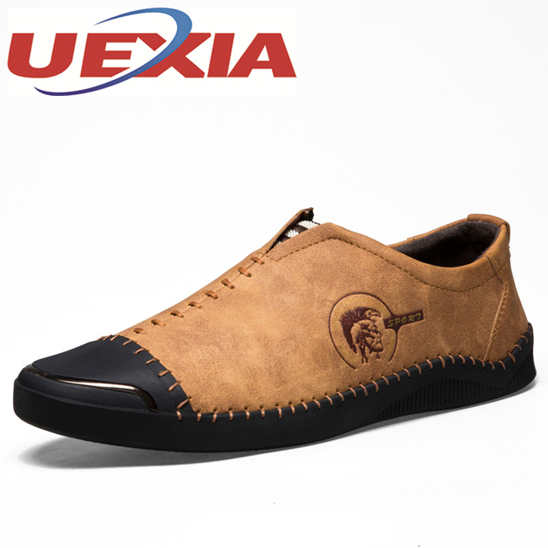 цена на Outdoor Casual Shoes Men Breathable Walking Shoes For Male Slip-On Driving Shoes Mens Loafers Quality Flats Boat Zapatillas Gold
