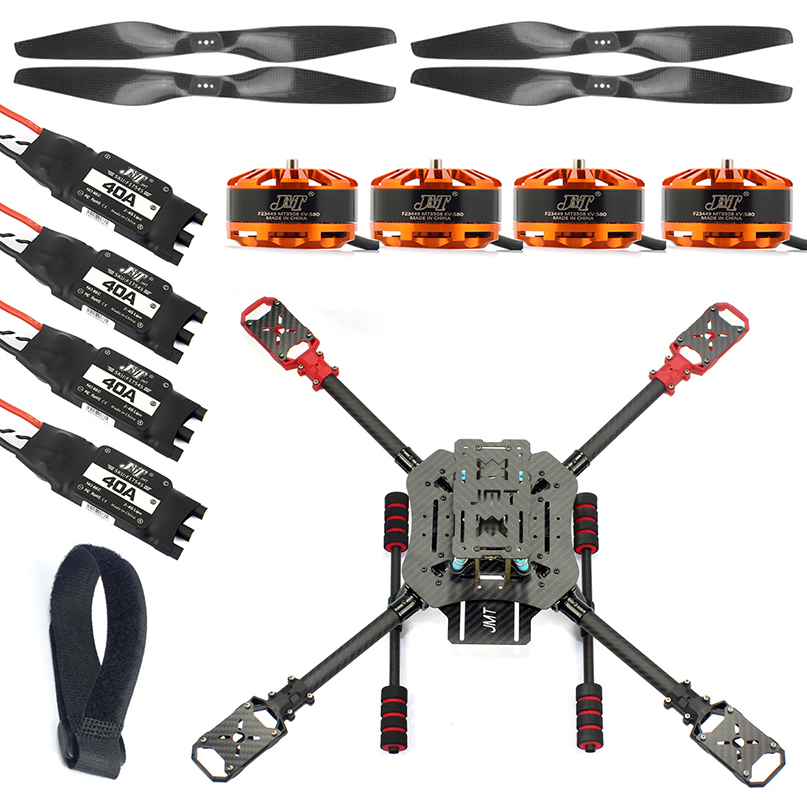 DIY X4 560mm Carbon Fiber Foldable Frame Kit with Foldable Landing Gear 3508 580KV Motor 40A ESC 1455 Propellers RC Quadcopter jmt j510 510mm carbon fiber 4 axis foldable rack frame kit with high tripod for diy helicopter rc airplane aircraft spare parts