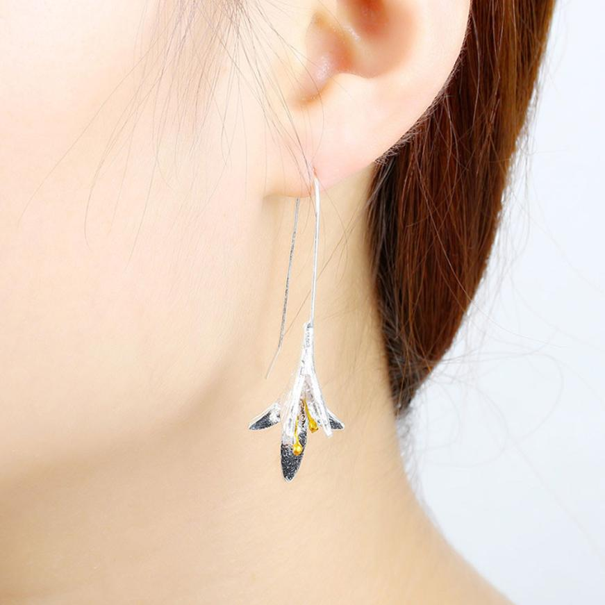 OTOKY Dangle Earrings Crystal Long Flower Earring Jewelry Acessories Lily of the Valley dangle earring for Ladies Nov30