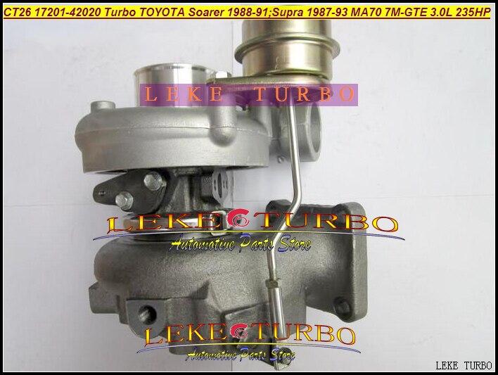 CT26 17201-42020 17201 42020 1720142020 Turbo турбонагнетатель для тoyota SUPRA 1987-93; SOARER 1988-91 MA70 7M-GTE 7mgte 3.0L 235HP