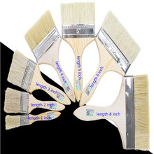 wood wall paint brush pinceaux peinture brushes 1inch 2inch 3inch 4inch 5inch 6inch 8inch 3PCS/LOT free shipping