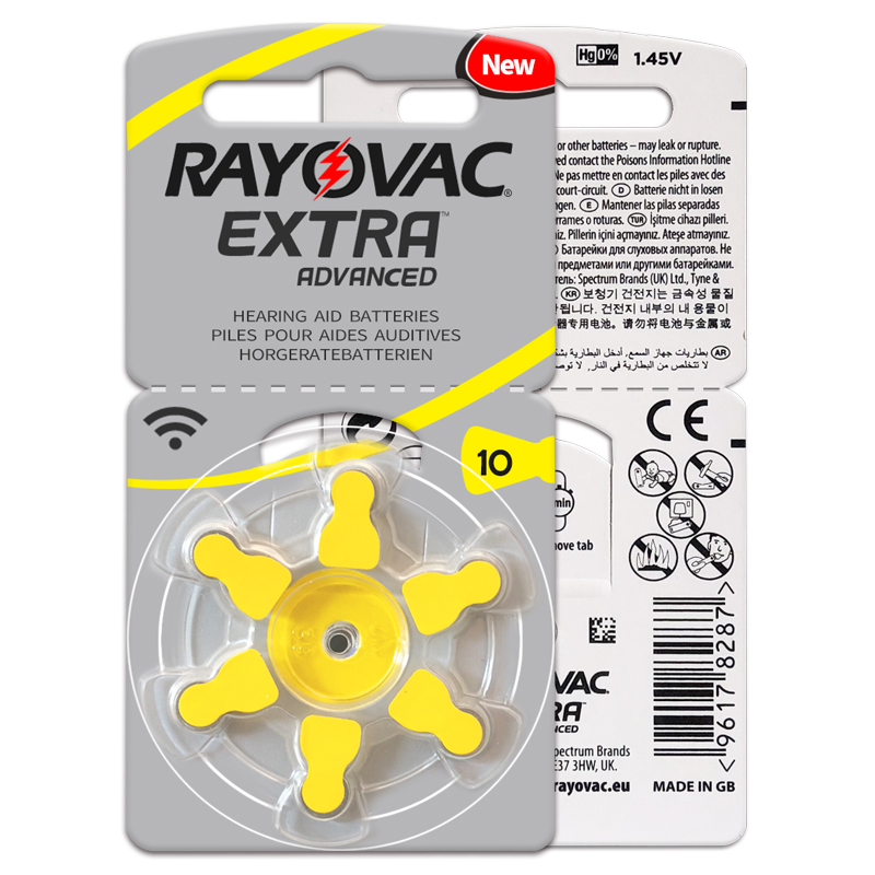 30 PCS Rayovac High Performance Hearing Aid Batteries. Zinc Air10/A10/PR70  Battery for BTE Hearing aids. 4