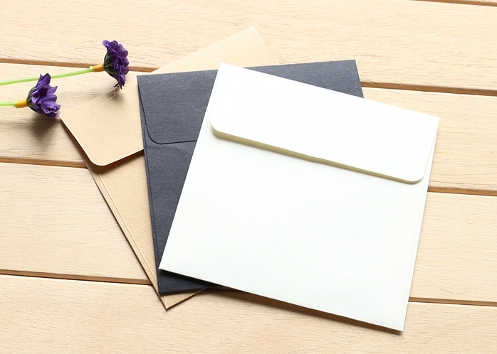 100pcs Lot Kraft Envelopes Square Envelope Card Bank Membership Wedding Party Invitation In Cards Invitations From Home Garden