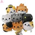 "[SGDOLL] 8pcs Game Neko Atsume Kitty Collector 3"" Cute Cat Animal Plush Keychain Set 16091410"