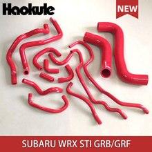 Performance Silicone Radiator Hose Kits for SUBARU IMPREZA WRX STI GRB GRF STI10 14PCS BLUE,RED,BLACK