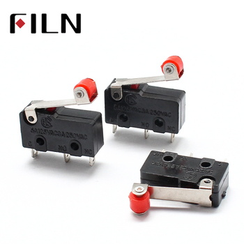 цена на 1Pcs KW12-3 Mini Micro Roller Lever Arm Normally Open Close SPDT Snap Action Limit Switch