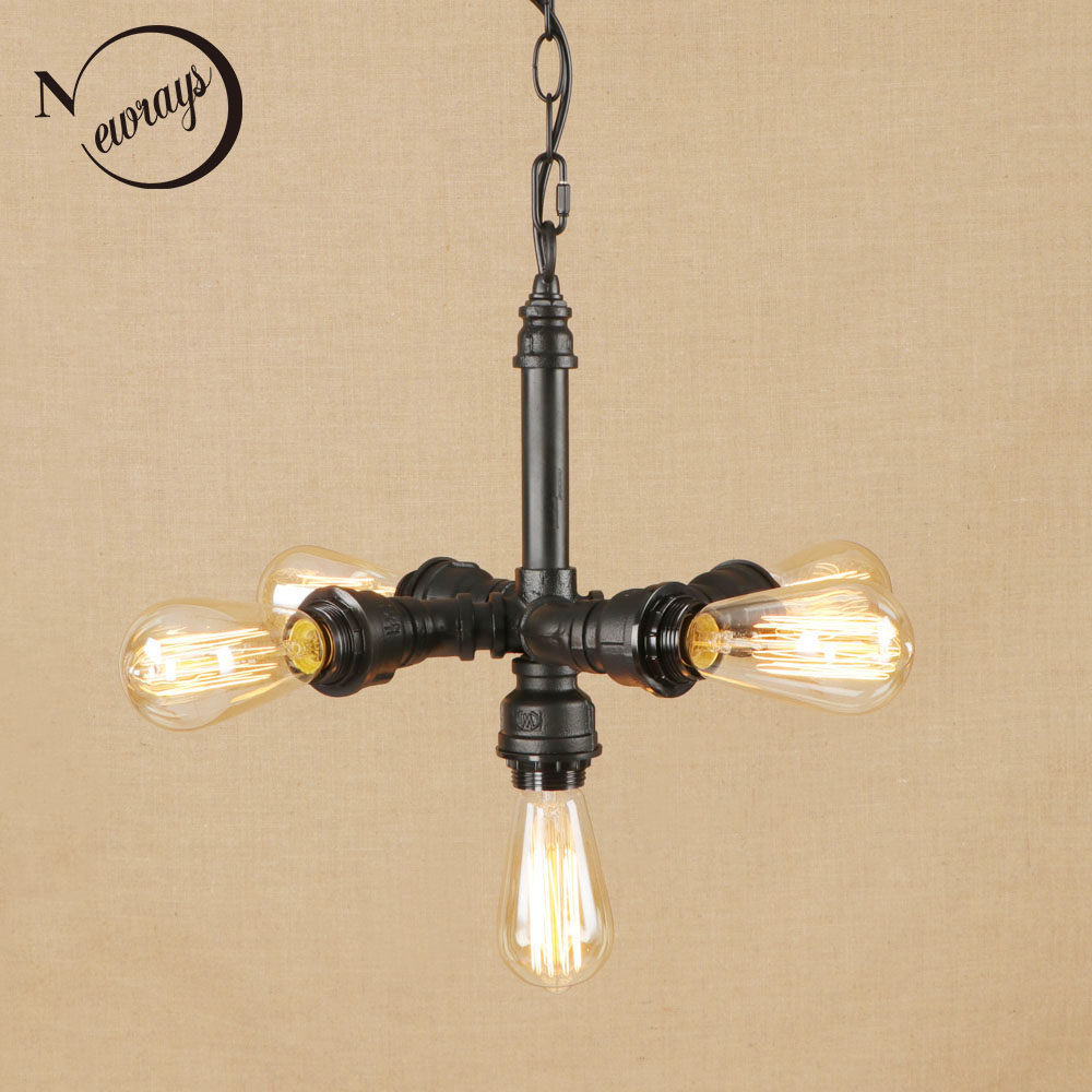 vintage iorn american country vintage lampshade Indoor pendant lights LED lamp luminaire suspension 220v for dinningroom/hotel