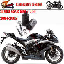 Motorcycle Racing No Cut Crash Pads Fairing Frame Protectors Slider Fit For 2004-2005 Suzuki GSXR 600 / 750