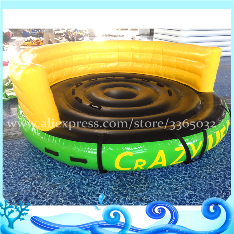 Sea Towable Water Tubes/ Inflatable Crazy UFO/ Inflatable Sports Water Games 4 1m red colour inflatable towable tube crazy ufo flying boat inflatable water sofa for summer water park